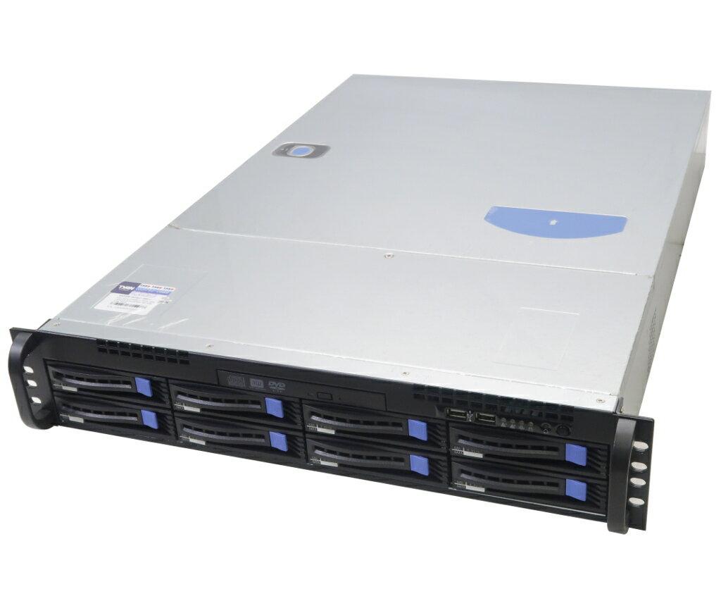 TYAN KST208 S7077マザーボード搭載 2Uサーバー Xeon E5-2620 v4 2.1GHz*2 32GB 1TBx3台(SATA3.5インチ/RAID5構成) DVD+-RW 【中古】【20190208】