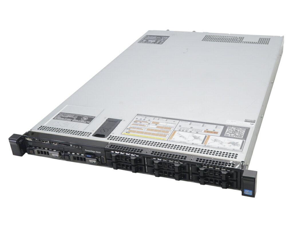 DELL PowerEdge R620 Xeon E5-2650L 1.8GHz*2 64GB SSD 200GBx2台(SATA2.5インチ/RAID1構成) DVD-ROM AC*2 PERC H710 Mini 【中古】【20190412】