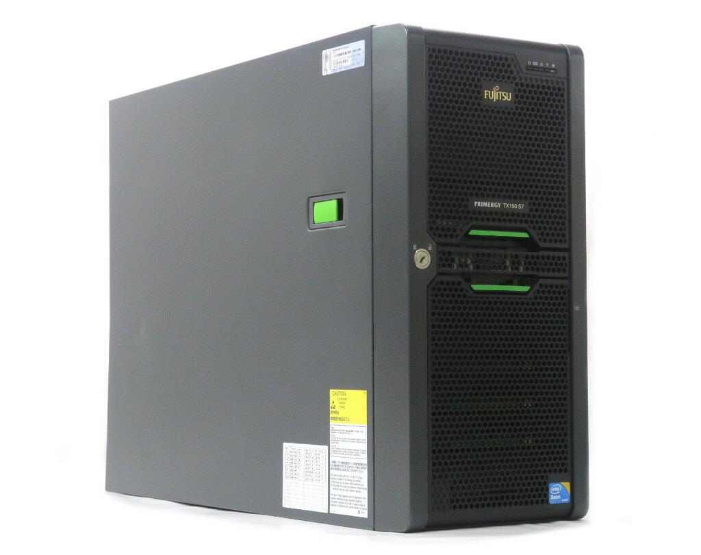 富士通 PRIMERGY TX150 S7 Xeon X3430 2.4GHz 4GB 146GBx3台(SAS3.5インチ/6Gbps/RAID5構成) DVD-ROM D2616 【中古】【20190419】