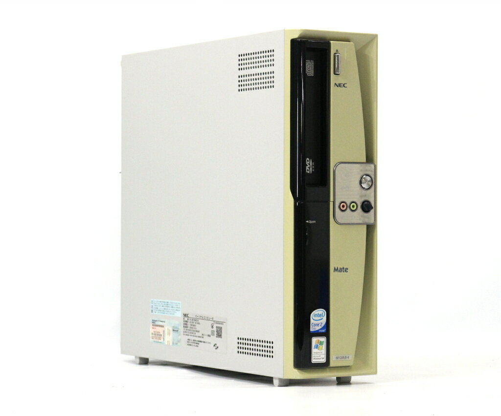 NEC Mate MY20R/B-4 Core2Duo E4400 2GHz 1GB 80GB(HDD) アナログRGB出力 DVD-ROM WindowsXP Pro 32bit 【中古】【20190402】