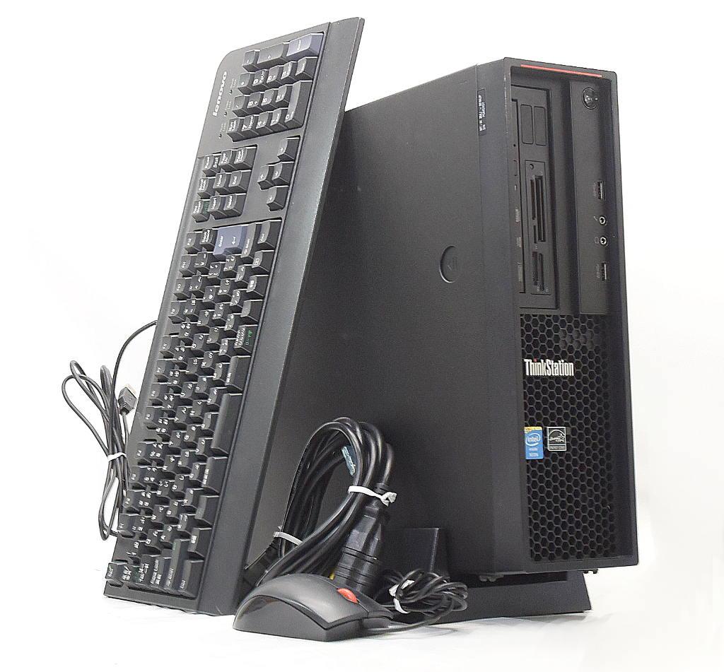 Lenovo ThinkStation P300 Xeon E3-1241 v3 3.5GHz 8GB 500GB(HDD) Quadro K620 DVD+-RW Windows8.1 Pro 64bit 【中古】【20190412】