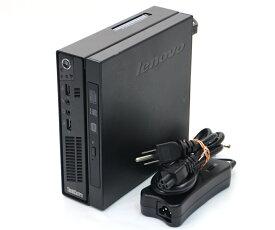Lenovo ThinkCentre M72e Celeron G460 1.8GHz 4GB 320GB(HDD) DisplayPort アナログRGB出力 DVD+-RW Windows7 Pro 64bit 【中古】【20200208】