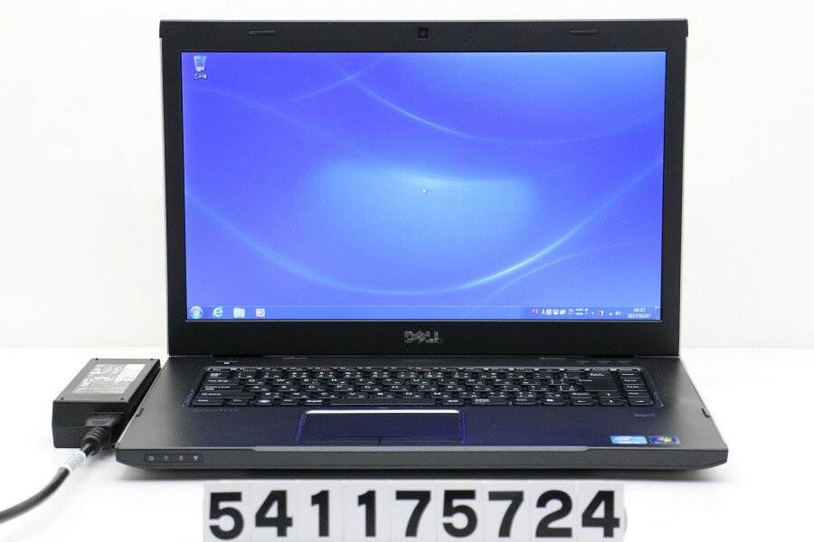 DELL Vostro 3550 Core i3 2310M 2.1GHz/4GB/320GB/Multi/15.6W/FWXGA(1366x768)/Win7 バッテリー欠品 【中古】【20170215】