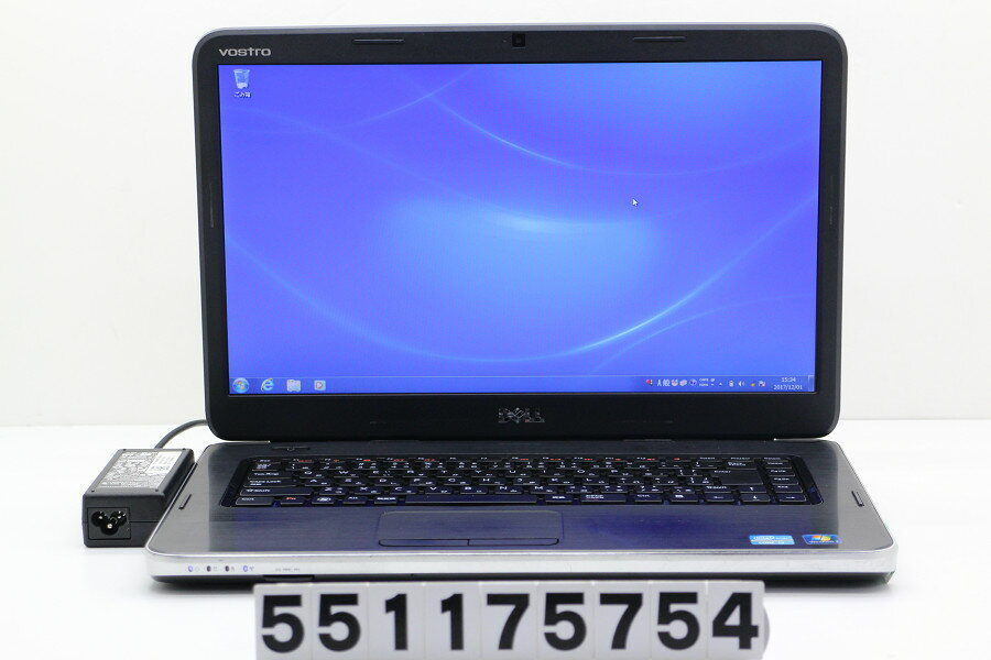 DELL Vostro 1550 Core i3 2350M 2.3GHz/4GB/320GB/Multi/15.6W/FWXGA(1366x768)/Win7【中古】【20171202】