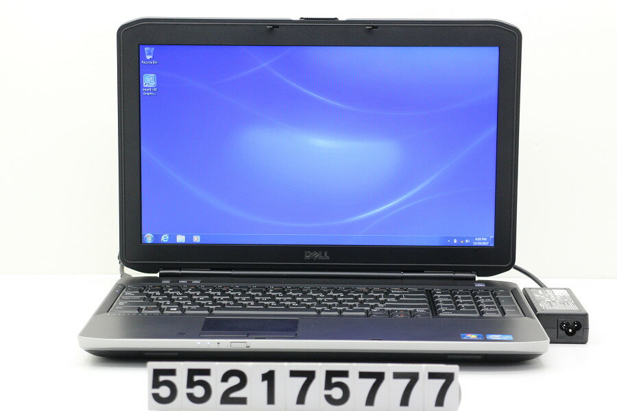 DELL Latitude E5530 English Core i3 3120M 2.5GHz/4GB/320GB/DVD/15.6W/FWXGA(1366x768)/Win7 英語OS【中古】【20171220】