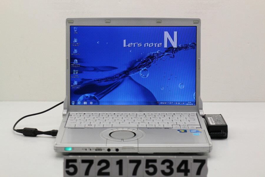 Panasonic CF-N9KW5MDS Core i5 M520 2.4GHz/4GB/128GB(SSD)/12.1W/WXGA(1280x800)/Win7【中古】【20171229】