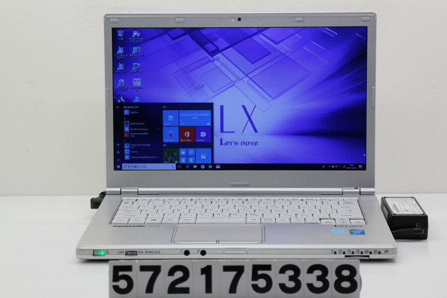 Panasonic CF-LX3EMHCS Core i5 4300U 1.9GHz/8GB/250GB/Multi/14W/WXGA++(1600x900)/Win10【中古】【20180104】