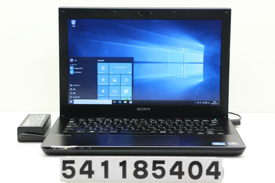 SONY SVS1313AJA Core i5 3230M 2.6GHz/4GB/320GB/Multi/13.3W/WXGA(1366x768)/Win10【中古】【20180113】
