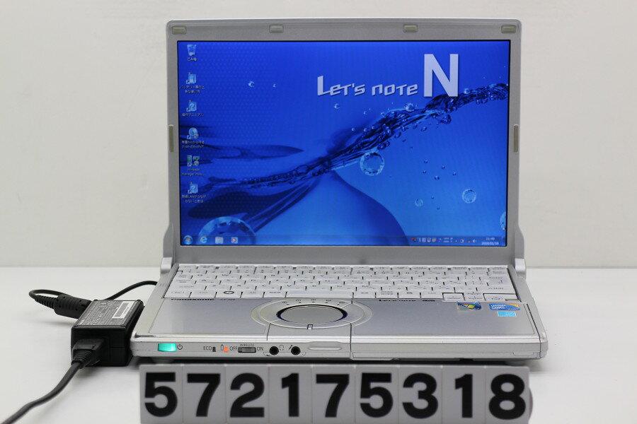 Panasonic CF-N9KW5MDS Core i5 M520 2.4GHz/4GB/128GB(SSD)/12.1W/WXGA(1280x800)/Win7 電源ボタン難あり【中古】【20180119】