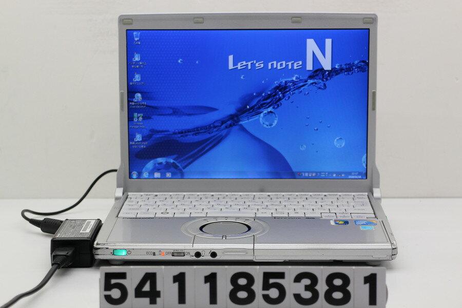 Panasonic CF-N9KW5MDS Core i5 M520 2.4GHz/4GB/128GB(SSD)/12.1W/WXGA(1280x800)/Win7【中古】【20180119】
