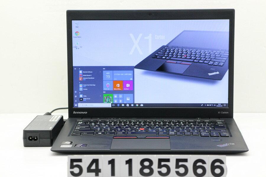 Lenovo ThinkPad X1 Carbon Core i5 3427U 1.8GHz/8GB/256GB(SSD)/14W/WXGA++(1600x900)/Win10【中古】【20180120】