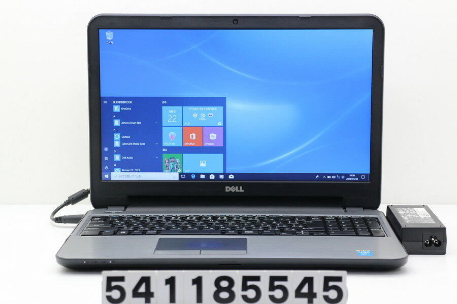DELL Latitude 3540 Core i3 4005U 1.7GHz/4GB/500GB/Multi/15.6W/FWXGA(1366x768)/Win10 USB×2及びバッテリーロック不良【中古】【20180123】