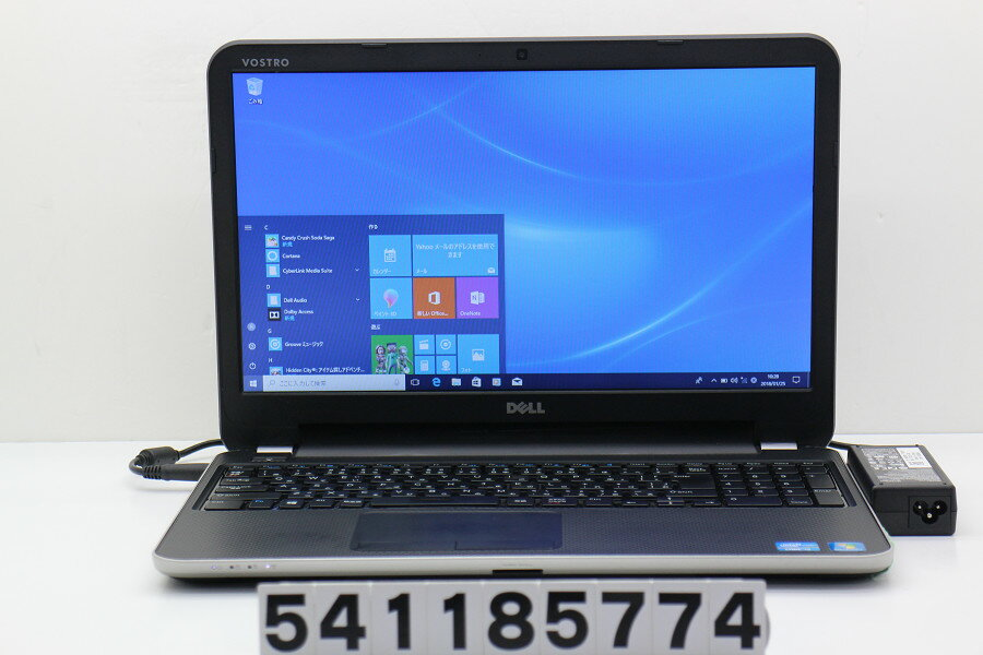 【ジャンク品】DELL Vostro 2521 Core i3 3227U 1.9GHz/4GB/500GB/Multi/15.6W/FWXGA(1366x768)/Win10 画面乱れる【中古】【20180126】