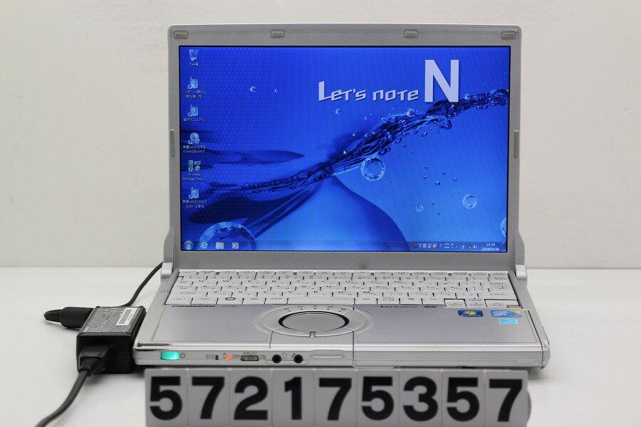 Panasonic CF-N9KW5MDS Core i5 M520 2.4GHz/4GB/128GB(SSD)/12.1W/WXGA(1280x800)/Win7 電源ボタン難あり【中古】【20180130】