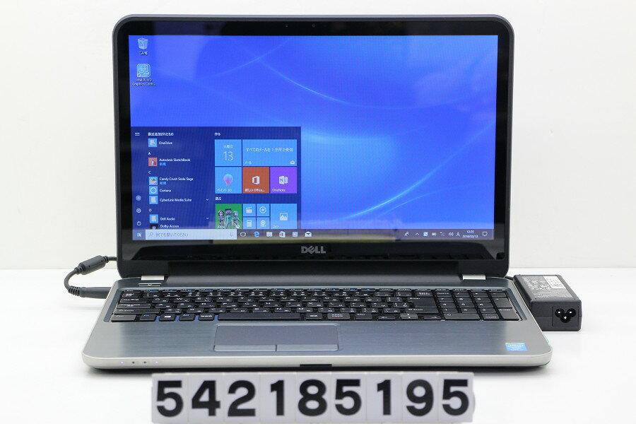 DELL Inspiron 5537 Core i7 4500U 1.8GHz/8GB/1TB/Multi/15.6W/FWXGA(1366x768) タッチパネル/Win10 Webカメラ不良【中古】【20180214】