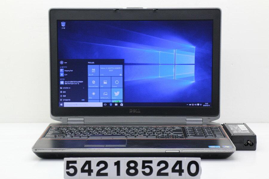 DELL Latitude E6520 Core i5 2520M 2.5GHz/4GB/320GB/DVD/15.6W/FWXGA(1366x768)/Win10【中古】【20180216】