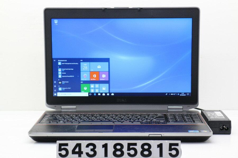 DELL Latitude E6520 Core i7 2640M 2.8GHz/8GB/128GB(SSD)/Multi/15.6W/FHD(1920x1080)/Win10/NVS 4200M【中古】【20180329】