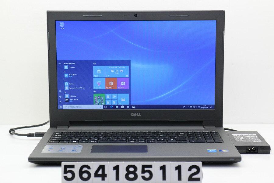 DELL Vostro 3546 Core i3 4005U 1.7GHz/4GB/500GB/Multi/15.6W/FWXGA(1366x768)/Win10【中古】【20180419】