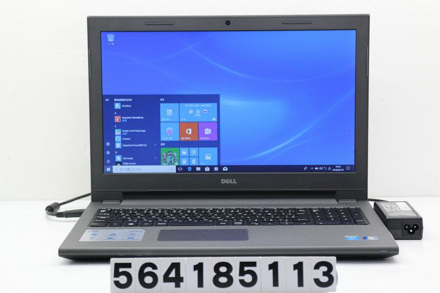 DELL Vostro 3546 Core i3 4005U 1.7GHz/4GB/500GB/Multi/15.6W/FWXGA(1366x768)/Win10【中古】【20180420】
