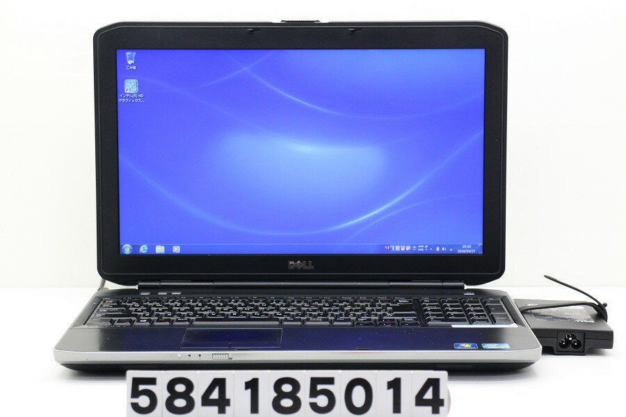 DELL Latitude E5530 Core i5 3340M 2.7GHz/4GB/320GB/Multi/15.6W/FWXGA(1366x768)/Win7【中古】【20180428】