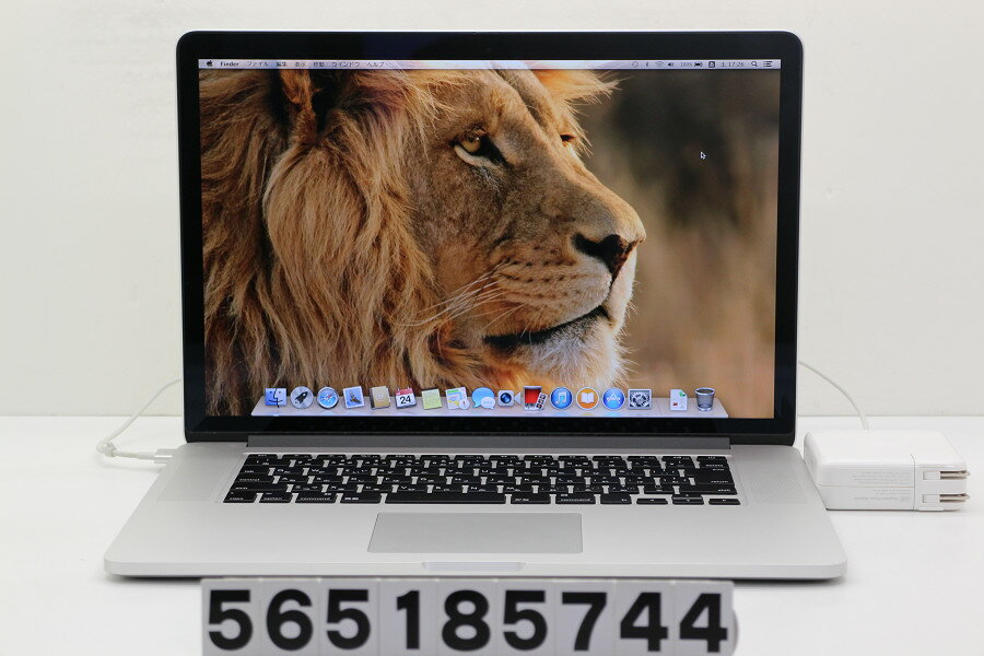 Apple MacBook Pro Retina A1398 Mid 2012 MC976J/A Core i7 3720QM 2.6GHz/8GB/512GB(SSD)/15.4W/QWXGA+(2880x1800)【中古】【20180525】