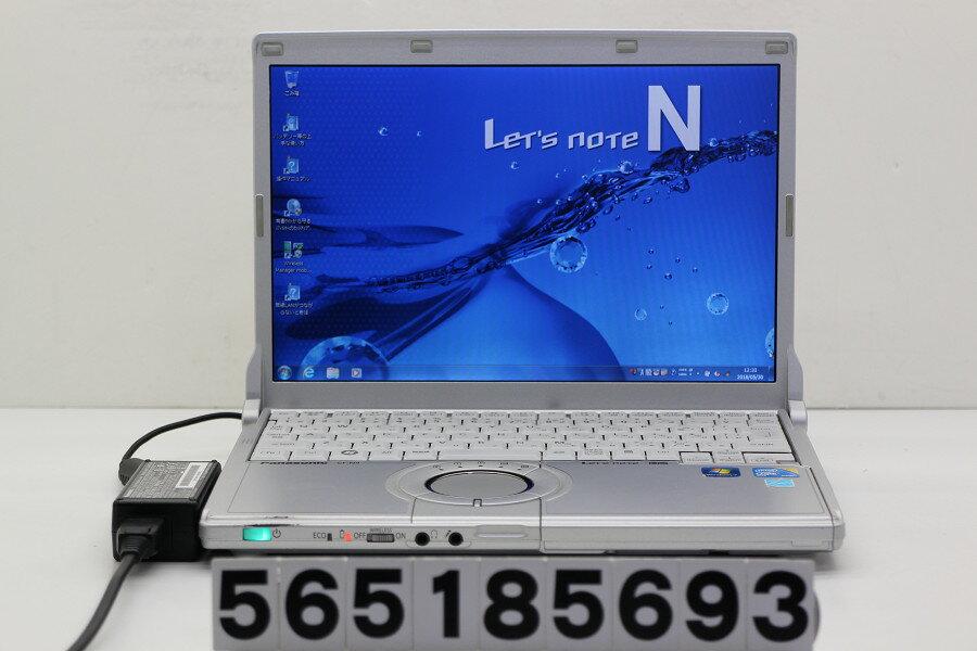 Panasonic CF-N9KW5MDS Core i5 520M 2.4GHz/4GB/128GB(SSD)/12.1W/WXGA(1280x800)/Win7【中古】【20180531】