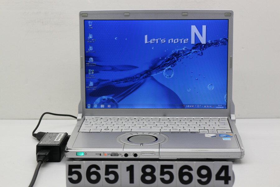 Panasonic CF-N9KW5MDS Core i5 520M 2.4GHz/4GB/128GB(SSD)/12.1W/WXGA(1280x800)/Win7【中古】【20180606】