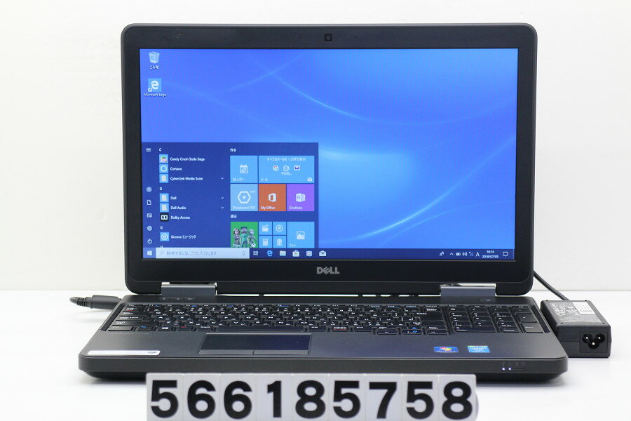 DELL Latitude E5540 Core i5 4300U 1.9GHz/4GB/320GB/Multi/15.6W/FWXGA(1366x768)/Win10【中古】【20180710】