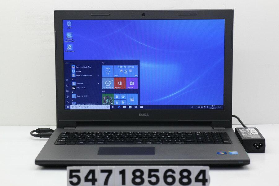 DELL Vostro 3546 Core i3 4005U 1.7GHz/4GB/500GB/Multi/15.6W/FWXGA(1366x768)/Win10 サウンド不良【中古】【20180718】