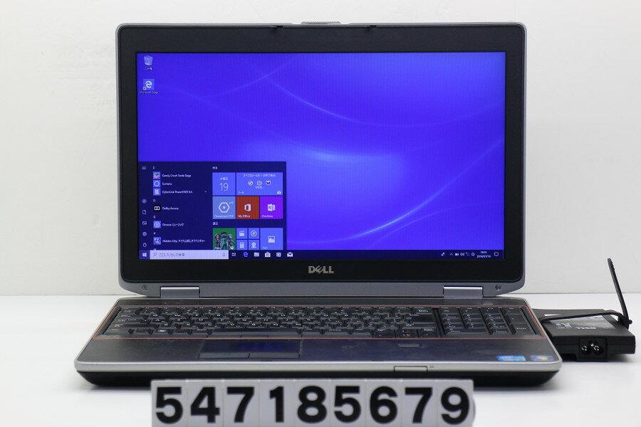 DELL Latitude E6520 Core i7 2640M 2.8GHz/8GB/320GB/Multi/15.6W/WXGA++(1600x900)/Win10 画面表示難あり【中古】【20180724】