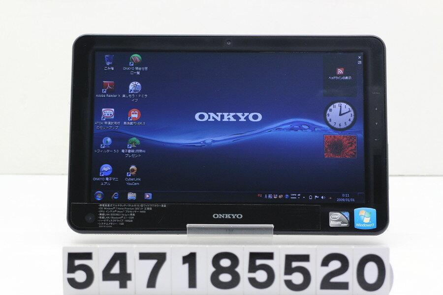 【ジャンク品】ONKYO TW117A4 Atom N450 1.66GHz/1G/160G/10.1W/タッチパネル/Win7 CMOS完全消耗 ACアダプター欠品 USB不良【中古】【20180801】
