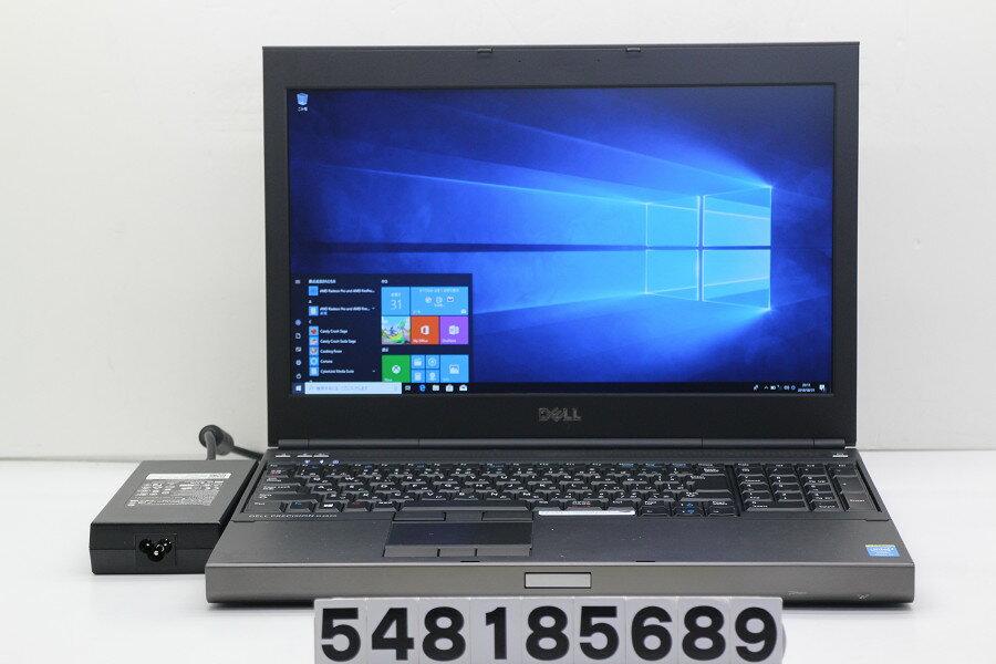 DELL Precision M4800 Core i7 4800MQ 2.7GHz/8GB/128GB(SSD)/Multi/15.6W/FHD(1920x1080)/Win10/FirePro M5100 FireGL V【中古】【20180911】