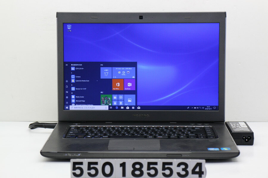 DELL Vostro 3560 Core i5 3230M 2.6GHz/4GB/500GB/Multi/15.6W/FWXGA(1366x768)/Win10【中古】【20181018】
