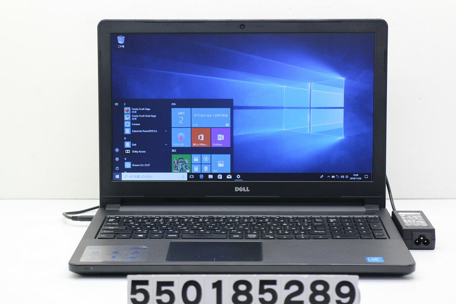 DELL Vostro 3558 Pentium 3825U 1.9GHz/4GB/500GB/Multi/15.6W/FWXGA(1366x768)/Win10【中古】【20181106】