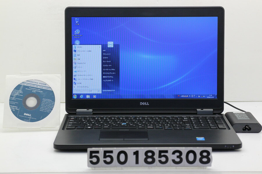 DELL Latitude E5550 Core i5 5300U 2.3GHz/4GB/500GB/15.6W/FWXGA(1366x768)/Win7 リカバリメディア付属【中古】【20181107】