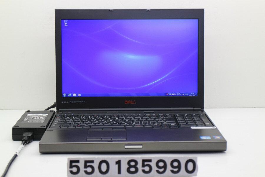 DELL Precision M4600 Core i5 2540M 2.6GHz/4GB/500GB/Multi/15.6W/FHD(1920x1080)/Win7/Quadro 1000M【中古】【20181108】