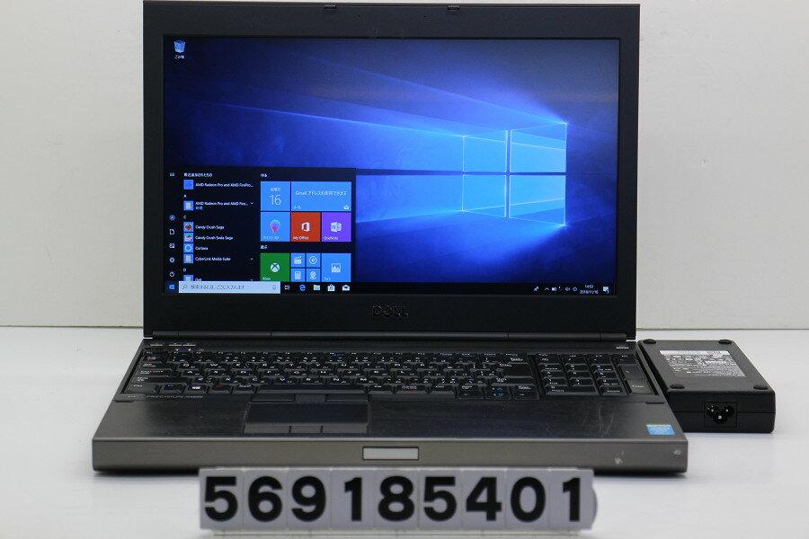 DELL Precision M4800 Core i7 4800MQ 2.7GHz/8GB/128GB(SSD)/Multi/15.6W/FHD(1920x1080)/Win10/FirePro M5400 FireGL V【中古】【20181117】