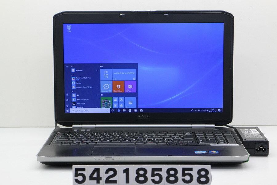 DELL Latitude E5520 Core i5 2520M 2.5GHz/4GB/128GB(SSD)/Multi/15.6W/FWXGA(1366x768)/Win10 右クリック不良【中古】【20181120】