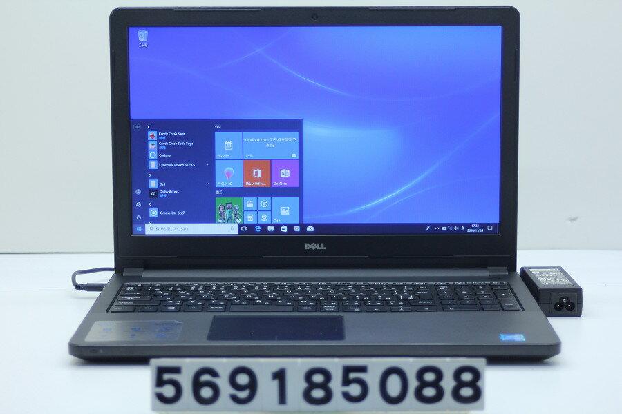 DELL Vostro 3558 Pentium 3825U 1.9GHz/4GB/500GB/Multi/15.6W/FWXGA(1366x768)/Win10 電源ボタン難あり【中古】【20181127】