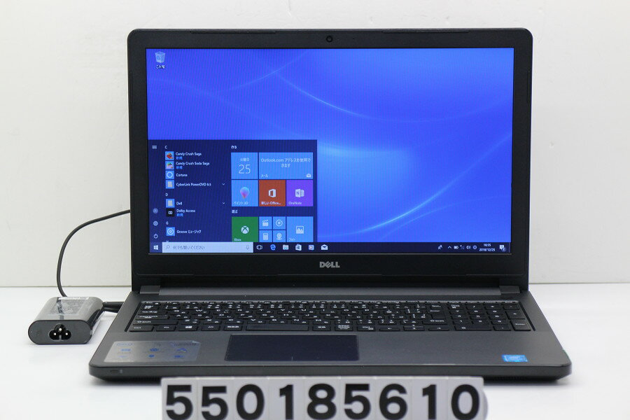 DELL Vostro 3558 Pentium 3825U 1.9GHz/4GB/500GB/Multi/15.6W/FWXGA(1366x768)/Win10 スピーカー音割れ【中古】【20181226】
