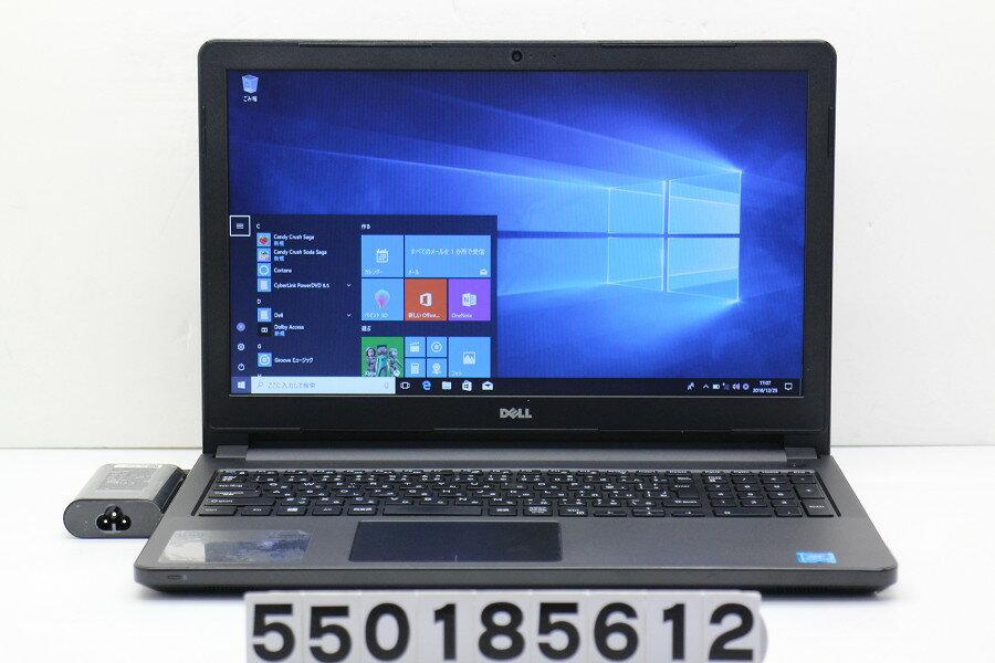 DELL Vostro 3558 Pentium 3825U 1.9GHz/4GB/500GB/Multi/15.6W/FWXGA(1366x768)/Win10【中古】【20181226】
