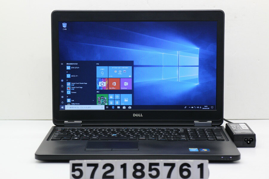 DELL Latitude E5550 Core i5 5300U 2.3GHz/4GB/500GB/15.6W/FWXGA(1366x768)/Win10 バッテリー膨らみ【中古】【20190110】