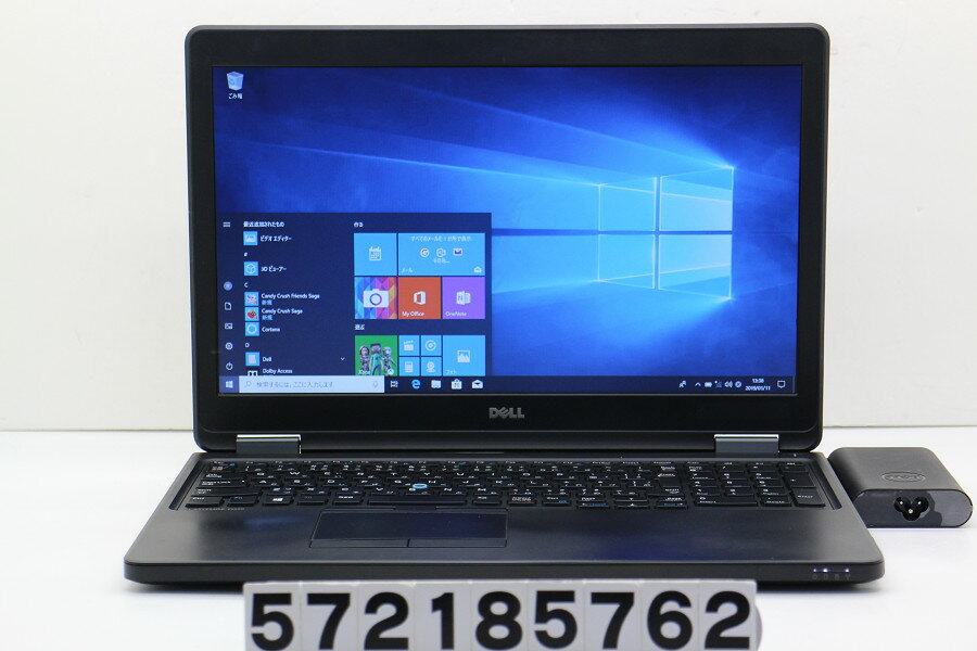 DELL Latitude E5550 Core i5 5300U 2.3GHz/4GB/500GB/15.6W/FWXGA(1366x768)/Win10 バッテリー膨らみ【中古】【20190112】