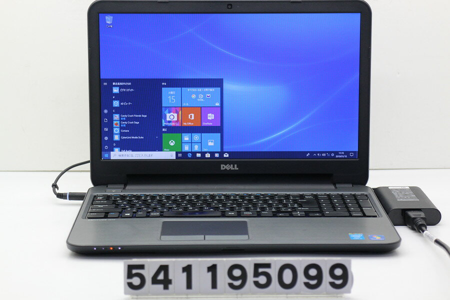 DELL Latitude 3540 Core i3 4005U 1.7GHz/4GB/128GB(SSD)/Multi/15.6W/FWXGA(1366x768)/Win10 バッテリ完全消耗【中古】【20190116】