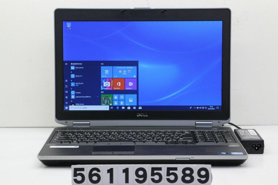 DELL Latitude E6530 Core i5 3230M 2.6GHz/4GB/500GB/Multi/15.6W/FWXGA(1366x768)/Win10【中古】【20190206】
