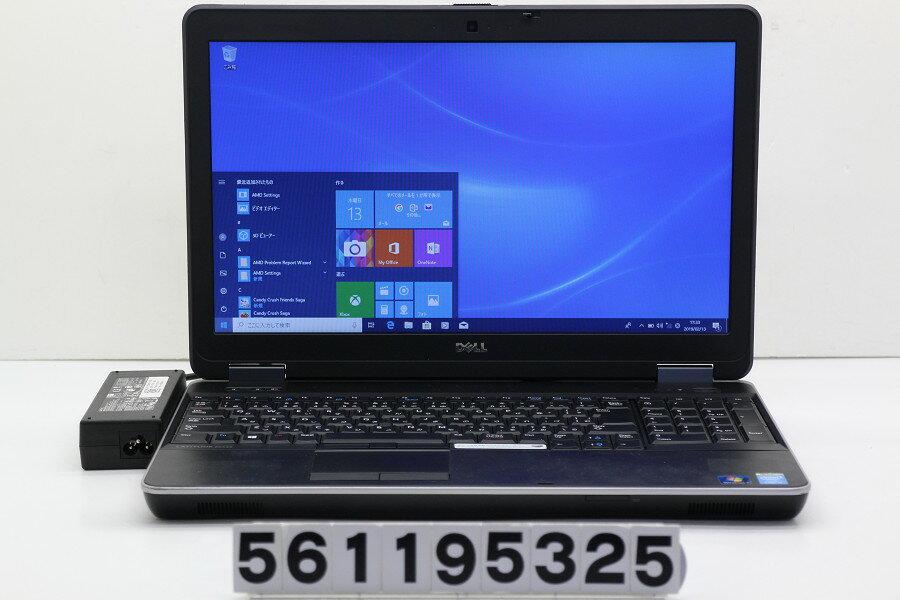 DELL Latitude E6540 Core i5 4300M 2.6GHz/8GB/256GB(SSD)/Multi/15.6W/FWXGA(1366x768)/Win10 SDスロット不良【中古】【20190214】