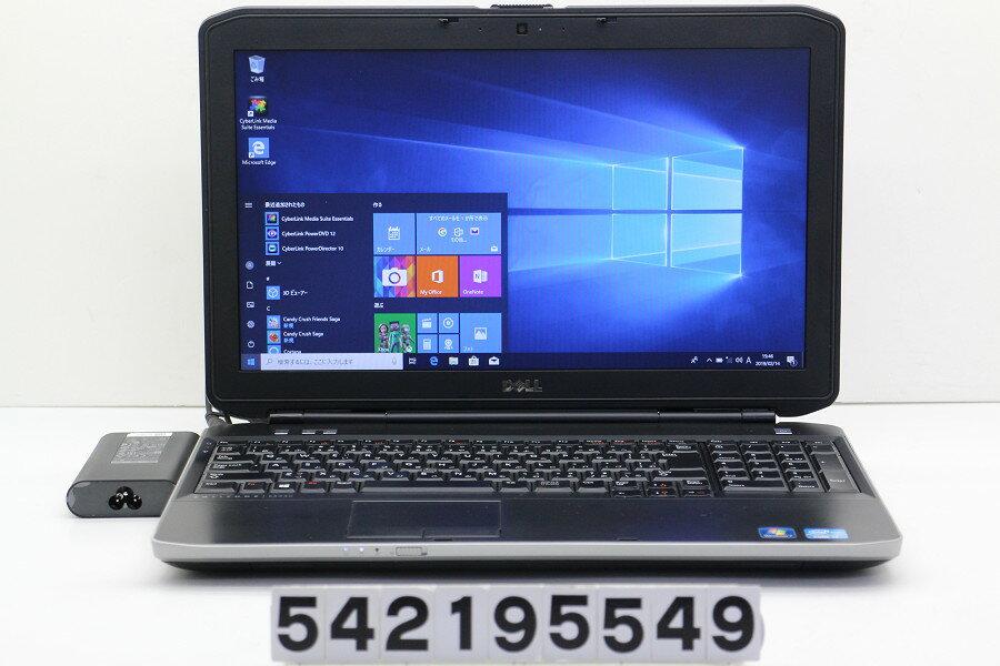 DELL Latitude E5530 Core i7 3540M 3GHz/4GB/128GB(SSD)/DVD/15.6W/FWXGA(1366x768)/Win10【中古】【20190215】