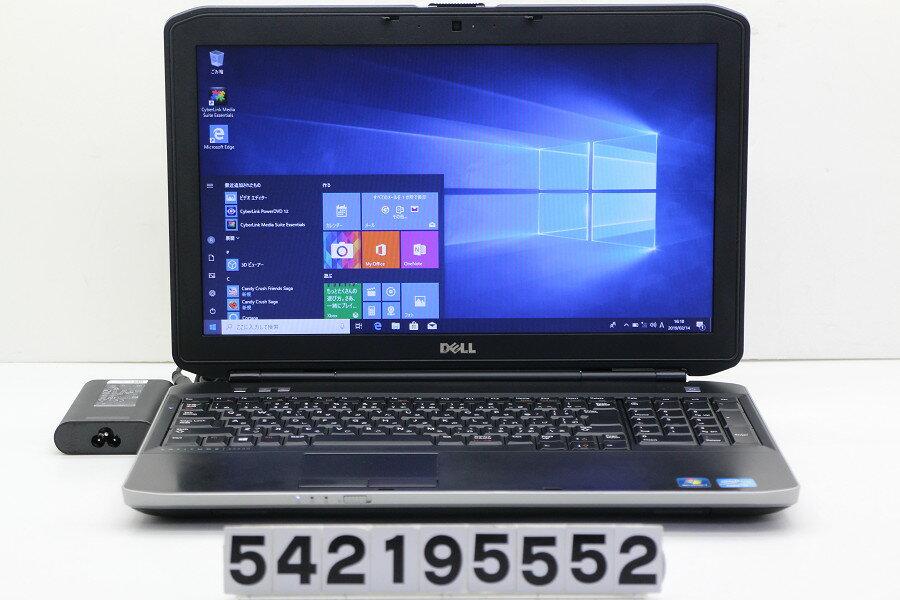 DELL Latitude E5530 Core i7 3540M 3GHz/4GB/128GB(SSD)/DVD/15.6W/FWXGA(1366x768)/Win10 Webカメラ不良【中古】【20190215】