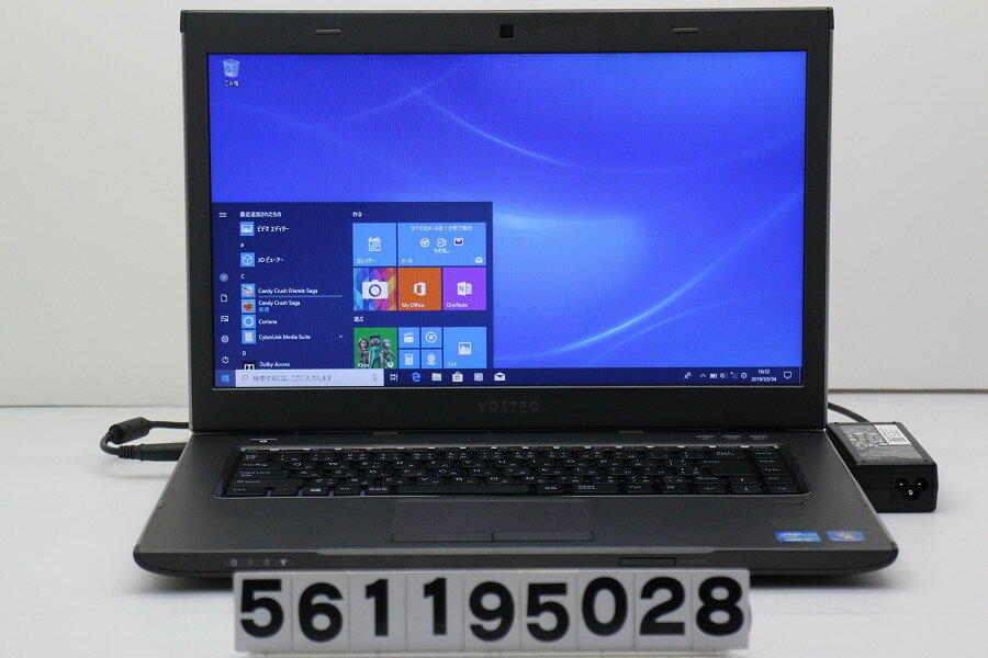 DELL Vostro 3560 Core i5 3230M 2.6GHz/4GB/256GB(SSD)/Multi/15.6W/FWXGA(1366x768)/Win10【中古】【20190305】