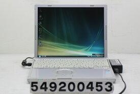 Panasonic CF-T7BW5DJS Core2Duo U7500 1.06GHz/2GB/160GB/12.1/XGA(1024x768)/Vista 液晶暗い【中古】【20200916】